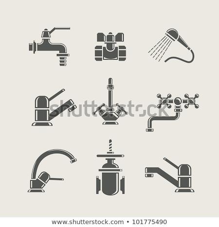 Baie duş baie apă fundal semna Imagine de stoc © popaukropa