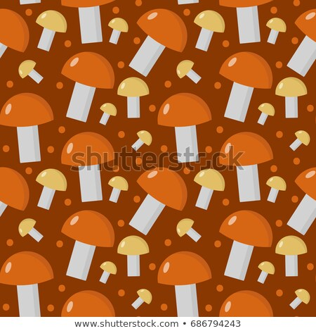 Mushrooms seamless pattern. Boletus edulis endless background, texture. Vegetable background. Vector Stock photo © lucia_fox