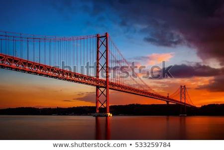 25 · híd · folyó · kilátás · Lisszabon · Portugália - stock fotó © lucvi