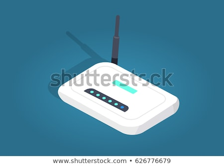 Wi-Fi Network Icon. Flat Design Cartoon Style Stock photo © robuart
