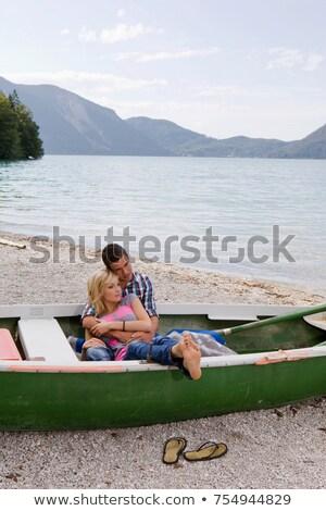Boot liefde man vervoer Stockfoto © IS2