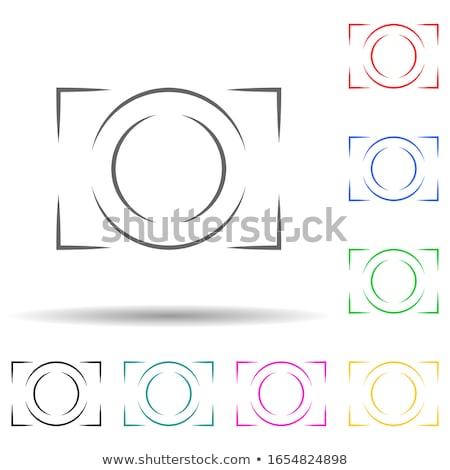 Photo Camera of Green Color Vector Illustration vector