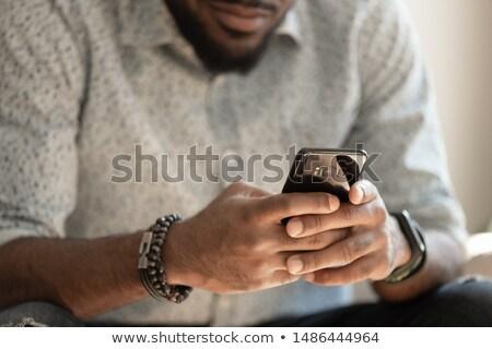 Homem foto câmera escritório feliz trabalhando Foto stock © wavebreak_media