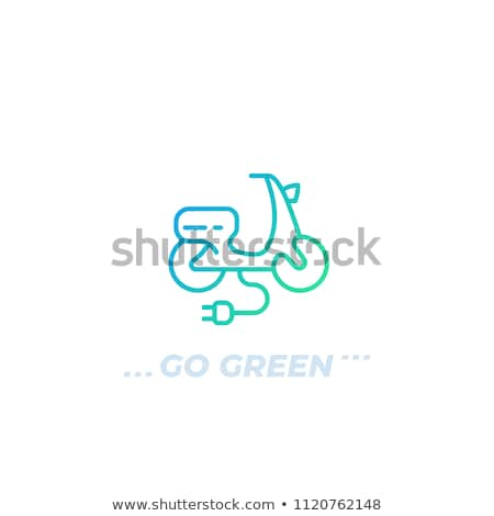 Trendy electric bike isolated on white icon Stock photo © studioworkstock