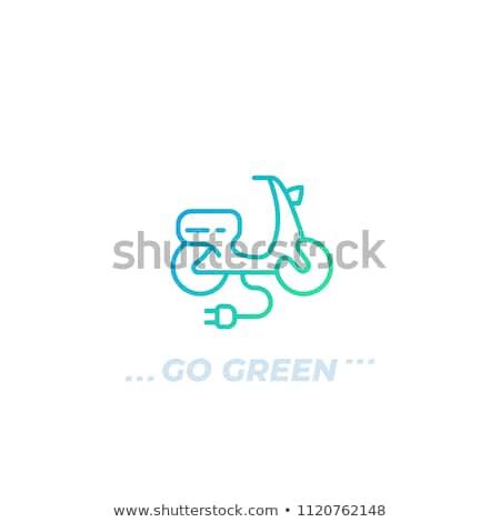 modieus · elektrische · fiets · geïsoleerd · witte · icon - stockfoto © studioworkstock