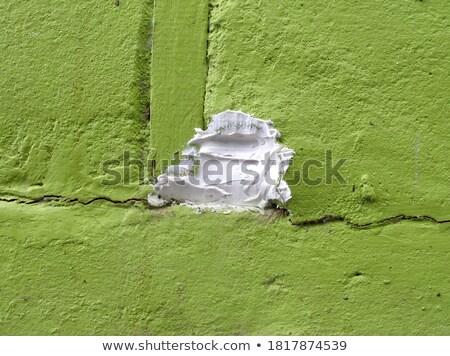 öreg zöld javítás fal lyuk lövedék Stock fotó © romvo