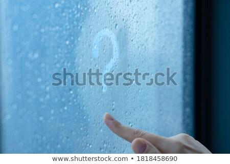 疑問符 にログイン 描画 雨の ウィンドウ 指 ストックフォト © romvo