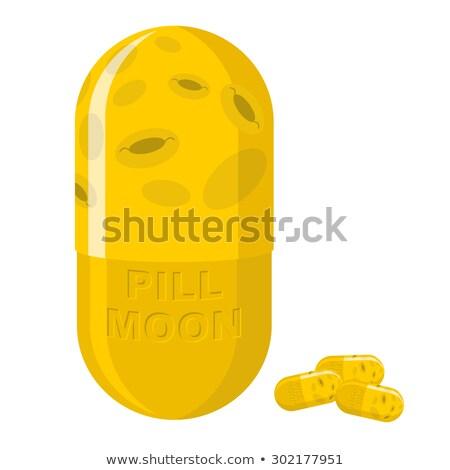 Moon pill. Fantastic Medication from disease. Vector illustratio Stock photo © popaukropa