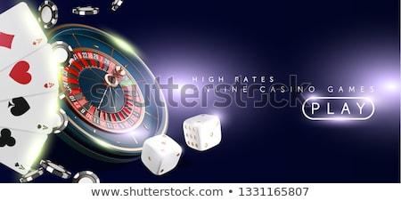 vecteur · ligne · mobiles · casino · app · jeux - photo stock © unkreatives