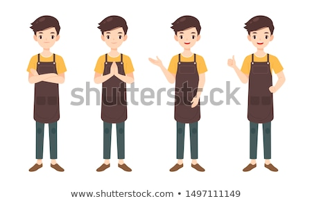 Verkoop assistent verkoper geïsoleerd winkel helper Stockfoto © popaukropa
