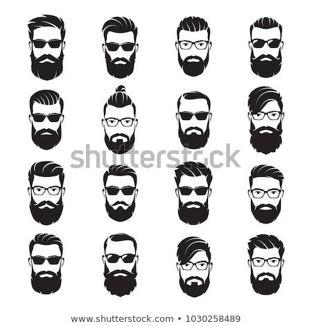 Signo cara barba de moda pelo Foto stock © popaukropa