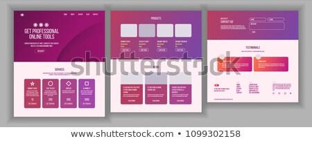 Principale web pagina design vettore sito Foto d'archivio © pikepicture