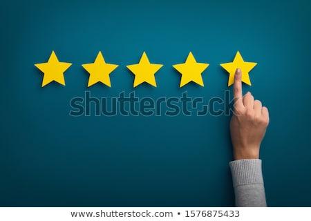 Müşteri geribesleme star simge imzalamak seçim Stok fotoğraf © SArts