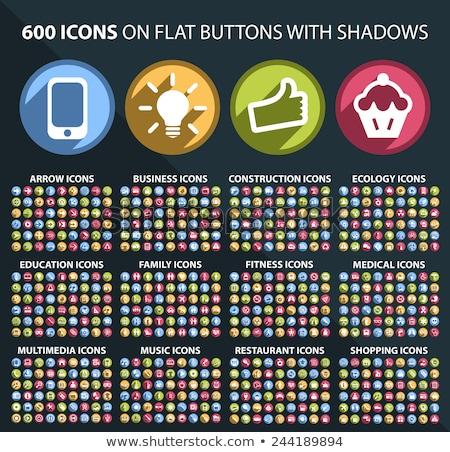 Web Design colorful icon set Stock photo © Genestro