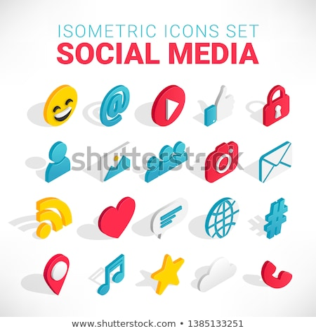 Video camera icon. Social media symbol on a gradient background. Stock photo © AisberG