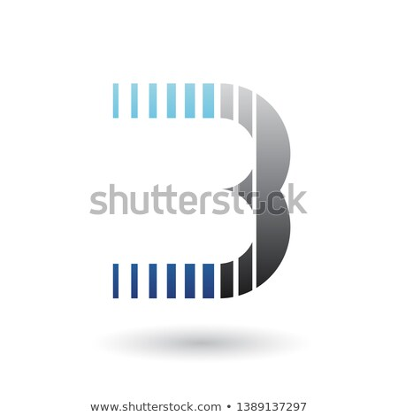 blue and black letter b icon with vertical stripes stock photo © cidepix
