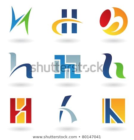 Rouge lettre h rectangulaire vecteur illustration Photo stock © cidepix