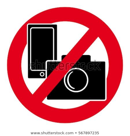 no · cellulare · vettore · segno · telefono · mobile - foto d'archivio © kraska