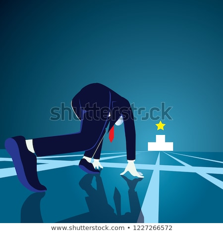 Foto d'archivio: Businessman Running Vector Illustration