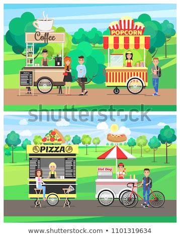 delicious street food from carts at green park stock photo © robuart