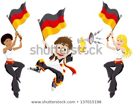 Almanya · bayrak · futbol · topu · vektör · dünya · futbol - stok fotoğraf © doomko