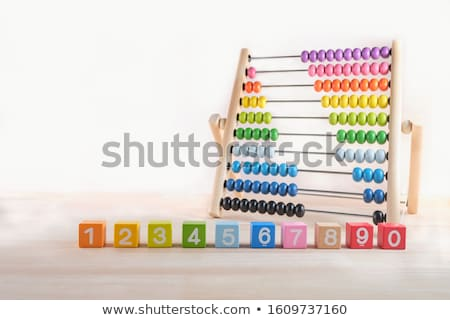 Math abacus number six Stock photo © bluering