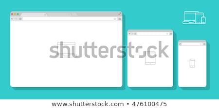 Bilgisayar ekranı Internet sayfa inşaat turta diyagram Stok fotoğraf © robuart