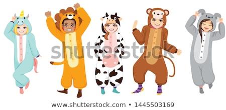 Cartoon Lion Pajamas Stock photo © cthoman