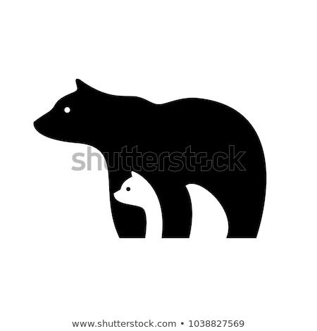 Cartoon Polar Bear Sign Stock photo © cthoman