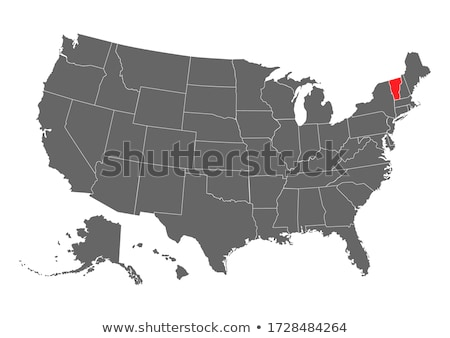 Vermont - States of US Map Icon Vector Template Stock photo © kyryloff