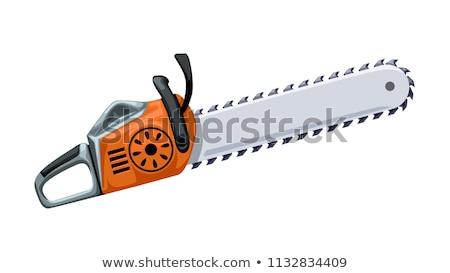 gasoline chainsaw vector illustration Stock photo © konturvid