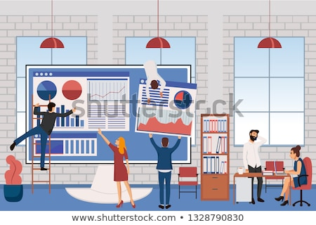 computer technology concept   modern vector isometric illustration stock photo © decorwithme