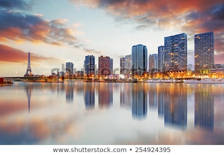 Parijs · gedetailleerd · vector · skyline · business · hemel - stockfoto © jossdiim