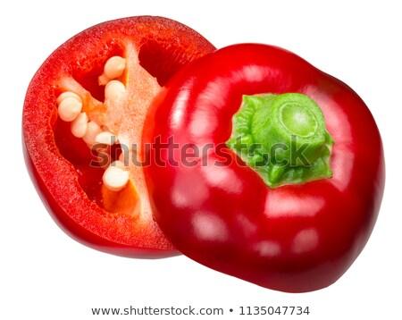 Paprika top kers peper rijp peul Stockfoto © maxsol7