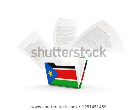 Map vlag zuiden Soedan bestanden geïsoleerd Stockfoto © MikhailMishchenko