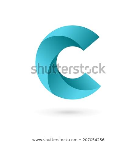 Mektup renkli simge vektör imzalamak logo Stok fotoğraf © blaskorizov