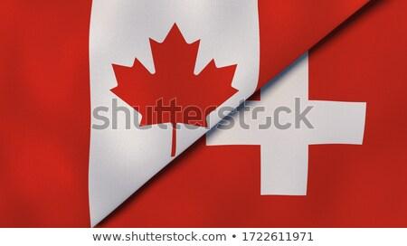 Two waving flags of Canada and switzerland Stock photo © MikhailMishchenko