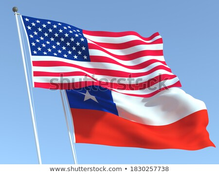 Two waving flags of United States and chile Stock photo © MikhailMishchenko
