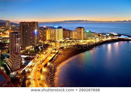 Puerto de la Cruz at night Stock photo © benkrut