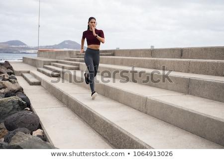 アクティブ 小さな 美人 を実行して 遊歩道 表示 ストックフォト © boggy
