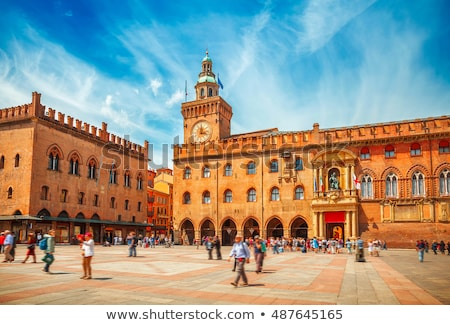 Clock Tower on Palazzo Comunale in Bologna. Italy Stock photo © boggy