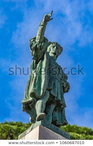 Olaszország kilátás művészet utazás szobor falu Stock fotó © boggy