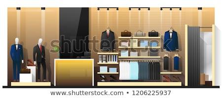 ショップ 服 ショーケース ベクトル スタンド プレゼンテーション ストックフォト © robuart