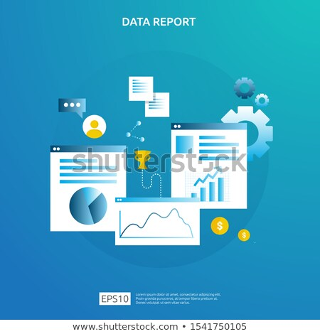 Finance investment planning with analytics chart Stock photo © cifotart