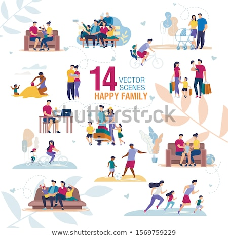 Set of african children exercise at beach Stock photo © bluering