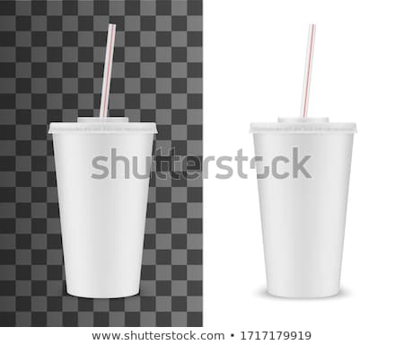 blanche · paquet · jus · isolé · papier · boîte - photo stock © smoki