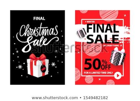 Végső karácsony vásár karácsony doboz ár Stock fotó © robuart