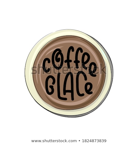 glace lettering vector illustration of handwritten lettering vector elements for coffee shop mark stock photo © bonnie_cocos