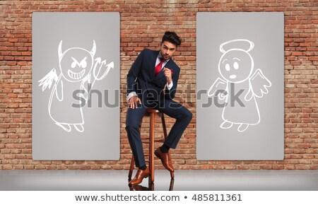 uomo · d'affari · scelta · giovani · sorridere · virtuale - foto d'archivio © ichiosea