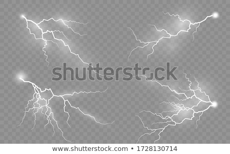 Lightning Vector. Storm Flash Thunder. Electric Power. Realistic Isolated Transparent Illustration Stock photo © pikepicture